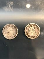 1853 HALF DIME LOT OF 2, 8/23/17 SHIPS FREE