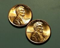 1974 P D LINCOLN MEMORIAL PENNY 2 COIN SET W5968