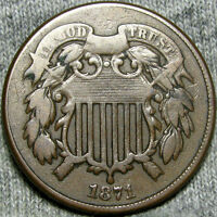 1871 TWO CENT PIECE TYPE COIN       ----    LOW MINTAGE  ---- Z874