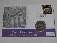 THE CORONATION 1953-2003 50TH ANN $1 BRITISH VIRGIN ISLANDS COIN FIRST DAY COVER