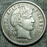 1905-S BARBER DIME US COIN --- STUNNING --- N531