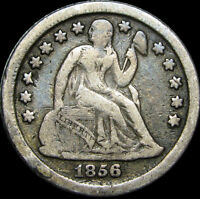 1856-O SEATED LIBERTY DIME ---- STUNNING TYPE COIN ---- D327