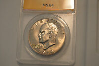 1978 D EISENHOWER DOLLAR ANACS CERTFIED 4589202 MS 64 UNCIRCULATED