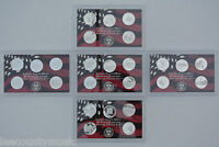 2004   2008 S CAMEO PROOF SILVER WASHINGTON STATE QUARTER SETS WITH BOXES & COAS