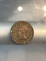 1875 INDIAN HEAD CENT  COIN, DAMAGED, 7/11/19
