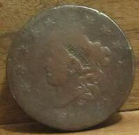 TWO LARGE CENTS 1830 1831, AG/ABOUT GOOD, 106
