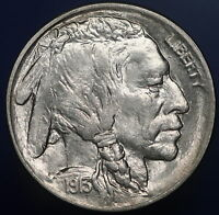 1913-D TYPE 1 BUFFALO NICKEL SUPERB GEM/UNC W/ HAMMERED STRIKE & ICY LUSTER 7024