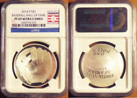 2014-P BASEBALL HALL OF FAME PF69 NGC SILVER DOLLAR