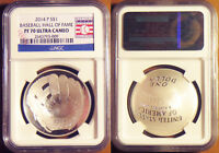 2014 P BASEBALL HALL OF FAME HOF SILVER DOLLAR S$1 NGC PF70 ULTRA CAMEO