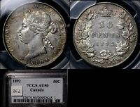 Click now to see the BUY IT NOW Price! ELITE COINS   50 CENTS   1892   AU50 PCGS BOOK $2800  LX114