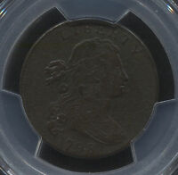 1798 LARGE CENT PCGS GENUINE FINE DETAIL S 170 R.3 NICE EVEN ORIGINAL COPPER