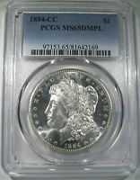 1884 CC MORGAN DOLLAR PCGS MS65DMPL HIGH GRADE DEEP MIRROR PROOF LIKE SILVER