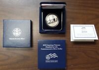 2010 W AMERICAN VETERANS DISABLED FOR LIFE   $1 PROOF SILVER DOLLAR W/ COA & BOX