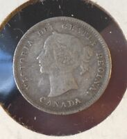 1887 CANADA 5 CENTS  KEY DATE FINE