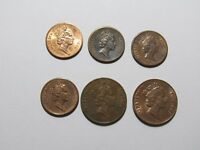 LOT OF 6 DIFFERENT FIJI COINS   1987 TO 2001   CIRCULATED