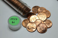 1975 D ROLL OF BU LINCOLN CENTS