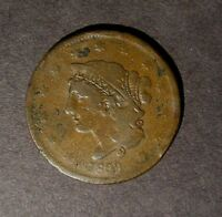 1839 CORONET BOOBY HEAD CENT COPPER PENNY GOOD DETAILS. YOU GRADE.