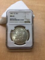 1881 CC MORGAN DOLLAR NGC MS63 FOR AUCTION    $1 TO OPEN