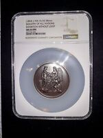 1854  EXHIBITION OF THE INDUSTRY OF ALL NATIONS J AM 16 58 MM NGC MS 64 BN