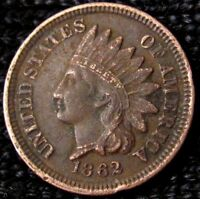 1862 INDIAN HEAD CENT   XF  DETAILS 17850