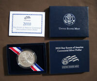2010 P BOY SCOUTS OF AMERICA UNCIRCULATED CENTENNIAL SILVER DOLLAR US MINT