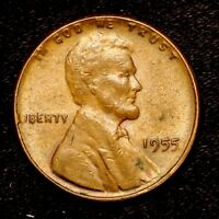1955 P    BETTER GRADE    COPPER LINCOLN WHEAT CENT PENNY OLD US COIN  H90