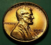 1958 D LINCOLN WHEAT PENNY W24636