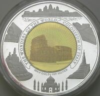 CAMBODIA 10000 RIELS 2006 PROOF   GOLD/SILVER   COLOSSEUM OF