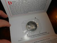 HEROES OF PEARL HARBOUR  5 DOLLARS COIN MARSHALL ISLANDS