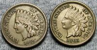 1860 POINTED BUST   1863 INDIAN HEAD CENTS     COPPER NICKEL LOT     U147