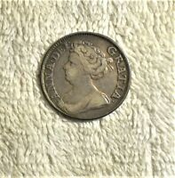 ENGLAND 1711 1 SILVER SHILLING QUEEN ANNE
