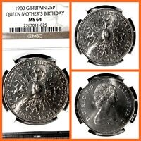 GREAT BRITAIN 1980 25 N.PENCE QUEEN MOTHER'S BIRTHDAY  MS 64