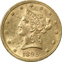 1895 $10 LIBERTY HEAD GOLD EAGLE   ABOUT UNCIRCULATED CONDITION