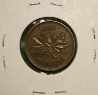 1941 CANADA KING GEORGE VI   ONE CENT   PENNY COIN