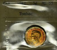 1942 TOMBAC 5 ICCS MS 65 GEM BRIGHT YELLOW TO GOLDEN ISSUE