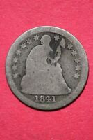CULL 1841 P SEATED LIBERTY HALF DIME EXACT COIN SHOWN FLAT RATE SHIPPING OCE 206