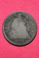 CULL 1858 P SEATED LIBERTY HALF DIME EXACT COIN SHOWN FLAT RATE SHIPPING OCE 186