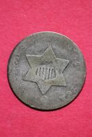 LOW GRADE NO DATE SEATED LIBERTY TRIME 3 CENT SILVER FLAT RATE SHIPPING OCE 023