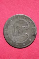 LOW GRADE NO DATE SEATED LIBERTY TRIME 3 CENT SILVER FLAT RATE SHIPPING OCE 004