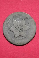 LOW GRADE NO DATE SEATED LIBERTY TRIME 3 CENT SILVER FLAT RATE SHIPPING OCE 028