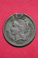 LOW GRADE 1865 THREE 3 CENT LIBERTY NICKEL EXACT COIN FLAT RATE SHIPPING OCE 354