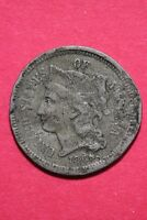 LOW GRADE 1865 THREE 3 CENT LIBERTY NICKEL EXACT COIN FLAT RATE SHIPPING OCE 314