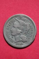 LOW GRADE 1865 THREE 3 CENT LIBERTY NICKEL EXACT COIN FLAT RATE SHIPPING OCE 347