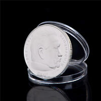 SILVER PLATED 1937 HINDENBURG PRESIDENT COMMEMORATIVE COIN COLLECTIONS GIFTEVG