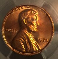 1972 LINCOLN CENT CHERRY PICKERS VARIETY DDO FS 103 PCGS MS 66 RD   EDS