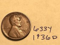 1936-D 1C BN LINCOLN CENT 633Y