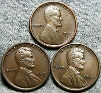 1918-S  1919-D  1921 LINCOLN WHEAT CENTS ---  LOT --- N643