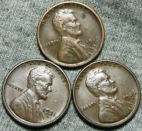1916-S 1921-S 1926-S LINCOLN CENT WHEAT CENT  ---  LOT --- T528