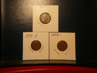 1948, 1948-D, 1948-S LINCOLN WHEAT-BACK CENTS GOOD CIRCULATED COINS