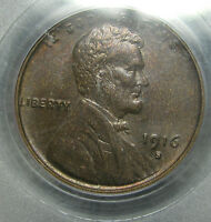 1916-S LINCOLN CENT PCGS MINT STATE 63 WHEAT CENT SLABBED GRADED ----